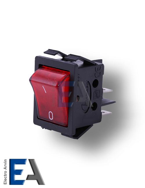 کلید راکر پهن چراغدار 16 آمپر استاندارد