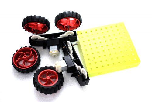 مجموعه ساخت ربات ( چرخ و گیربوکس و شاسی )