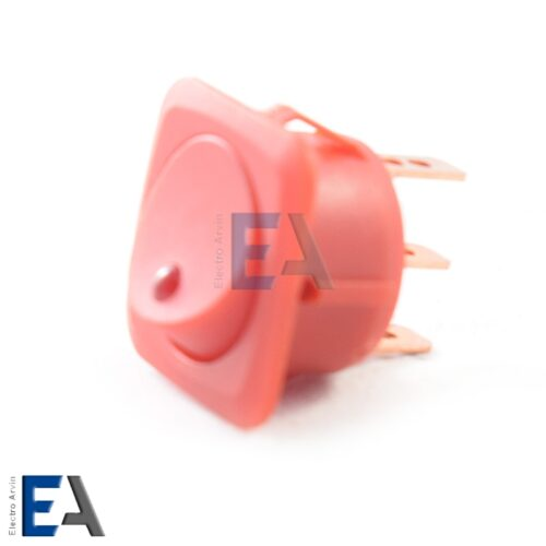 کلید راکر پهن تک پل 3 پایه چراغدار - کلید-راکر-ال-ای-دی-دار-12-ولت