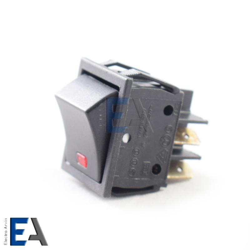 کلید راکر پهن تک پل 4 پایه چراغدار - کلید-راکر-چراغدار