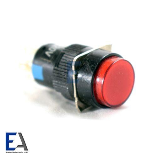 شستی فشاری گرد خاموش روشن با تلق قرمز چراغدار کلید-خاموش-روشن-صنعتی-گرد