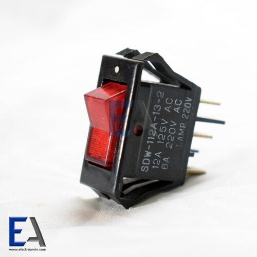 کلید راکر ژاپنی دو حالته چراغدار 3 پایه کلید-راکر-قوی-کلید-راکر-چراقدار-قرمز