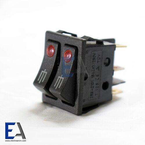 کلید راکر دوپل چراغدار 16 آمپر ( جوجه گردان ) کلید-راکر-6-کنتاکت-220-ولت