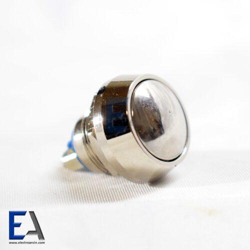 شستی فشاری گرد فلزی کلید-فشاری-تمام-استیل-کلید-فشاری-پیچ-دار-