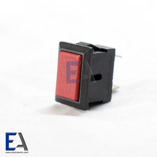 شستی فشاری مستطیلی 2 کنتاکتکلید-فشاری-خاموش-و-روشن-قرمز-220-ولت