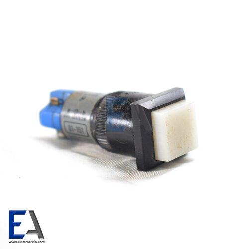 شستی فشاری مربع چراغ دار 4 کنتاکت کلید-فشاری-صنعتی-سفید-کوچک